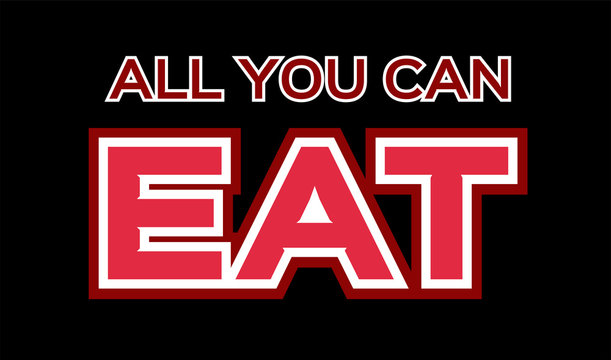 all you can eat icon . vector