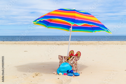 Sunshade Bag Sunbathers Beach