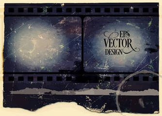 Grunge Frame . Large Distressed Texture . Decorative Vector Vintage Weathered Border. Great Grunge Background Or Retro Design Decor Element.