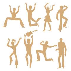 Dancers, singers (man, woman) set