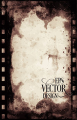 Vector Grunge Frame . Large Distressed Texture . Decorative Vintage Weathered Border. Great Grunge Background Or Retro Design Decor Element.