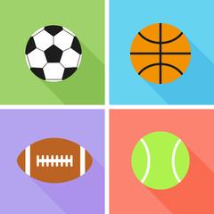 Image of sports balls. Flat design