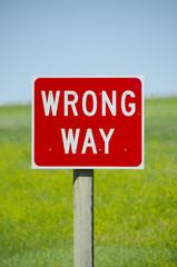 Wrong Way Street Sign