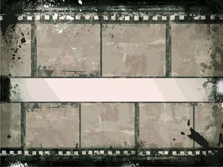 Grunge Frame – Large Distressed Texture . Decorative Vector Vintage Weathered Border. Great Grunge Background Or Retro Design Decor Element.