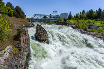 Rush of the Spokane Falls.