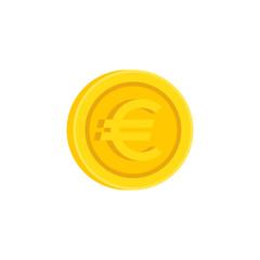 Euro coin sign vector icon