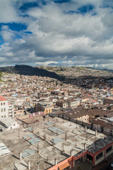 View of Quito, capital of Ecuador