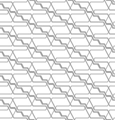 Abstract seamless pattern with angular lines. Structure of geometric shapes.