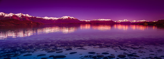 Foto op Textielframe Violet Argentinian Lake District
