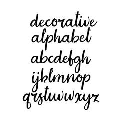 Handwritten lowercase letters. Vector handwritten alphabet. Modern calligraphy font
