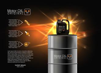 bottle engine oil background, vector illustration