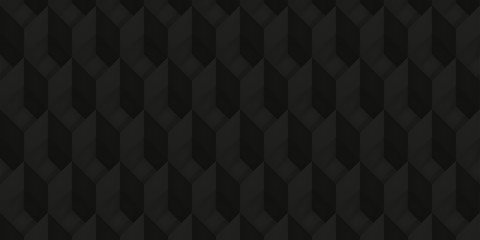 Volume realistic texture, back cubes, 3d geometric pattern, design vector dark background