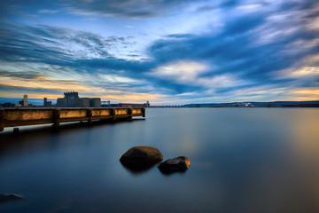 Sunset Port Terminal Duluth Minnesota
