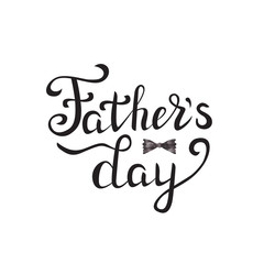 Vector isolated handwritten lettering for Father Day on white background. Vector calligraphy for greeting card, decoration and covering. Concept of Happy Father Day.