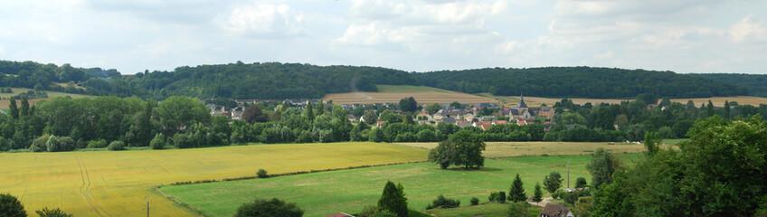Panorama de la vallée de l'Andelle, Normandie Fototapete