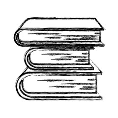 monochrome blurred silhouette of collection of books vector illustration