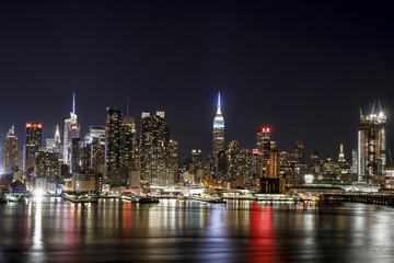 NYC skyline night time