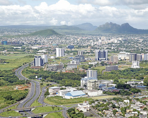 Aerial view of Ebene cyber city Mauritius