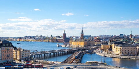 View of Stockholm city in Sweden