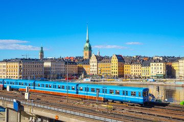 View of Stockholm cityscape in Sweden