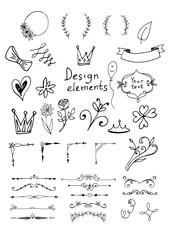 Hand drawn design elements.