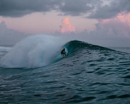 surfer in Tahiti