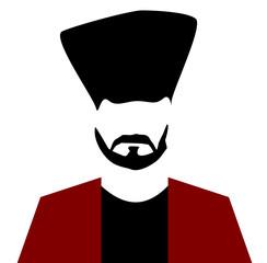 man with beard and tall hair