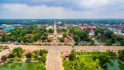 beautiful Prathat Phanom pagoda at Kong river