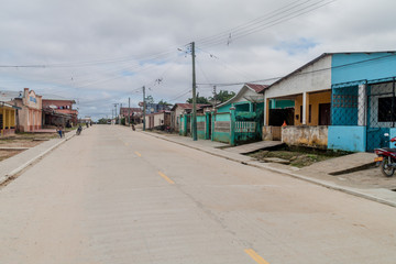 TABATINGA, BRAZIL - JUNE 22, 2015: View of a street in the town Tabatinga.