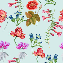 Background of flowers. Seamless pattern.