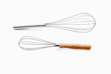 Two egg whisk isolate.