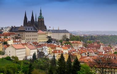 Poster Prague Prague, the Castle and St. Vitus Cathedral. Czech Republic