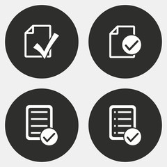 Checklist icon set.