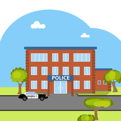 The building of the police