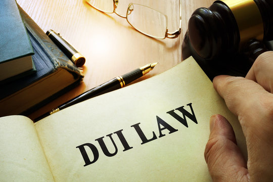 DUI law.  Driving Under the Influence concept.