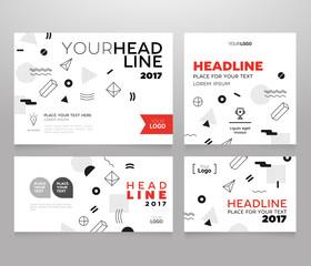 Headline Banner - vector template illustration poster