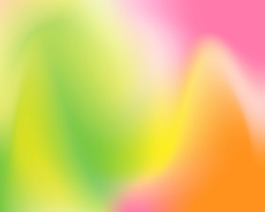 Abstract colorful background such green, yellow, pink, and orange. Blur pastel vector