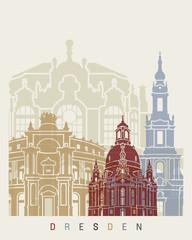 Wall Mural - Dresden skyline poster