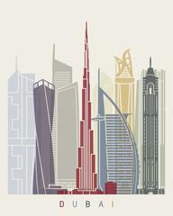Fototapete - Dubai V2 skyline poster