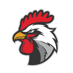 Chicken rooster head mascot 5