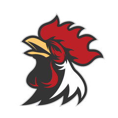 Chicken rooster head mascot 6