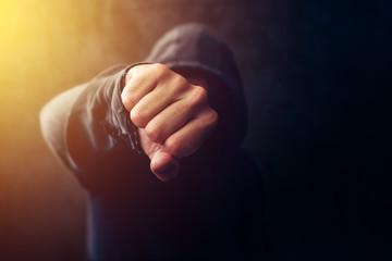Fototapeta Crime, violence and bullying concept obraz