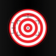 Target icon, sight sniper symbol isolated on white background, Crosshair and aim vector illustration.