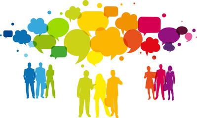 Gruppo di persone, Dialogare, Rete