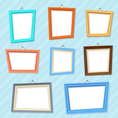 Vector cartoon photo picture creative wall frames
