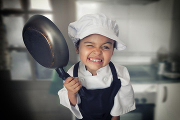 Four years chef girl