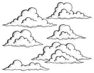 Clouds drawings theme image 1