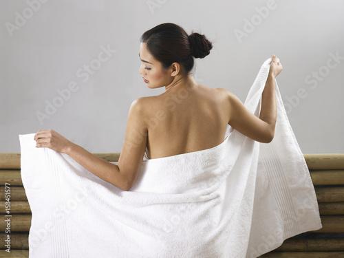 Naked blonde girl has sex