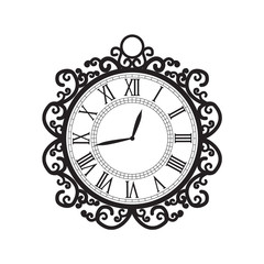 Vector decoration clock