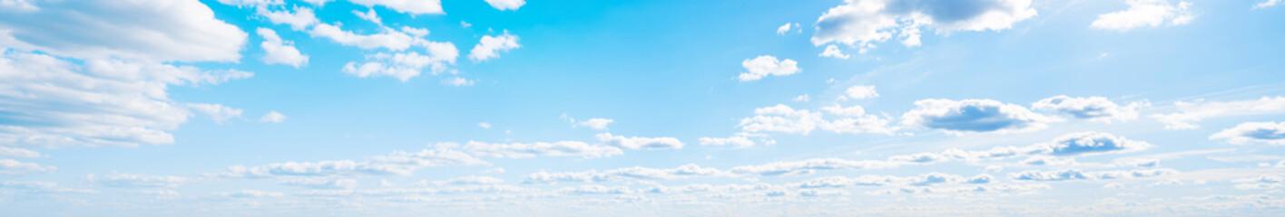 Sky clouds summer panorama